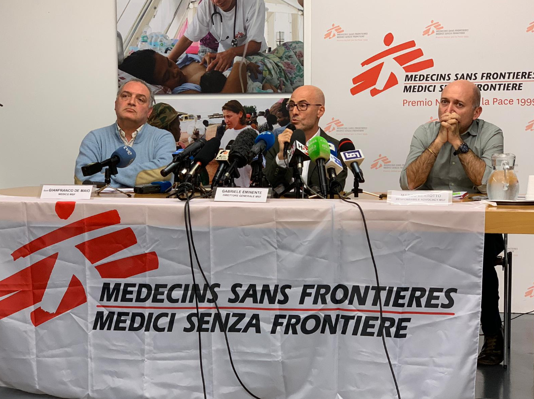 MSF press conference in Rome with Gabriele Eminente, General Director of MSF Italy. © MSF