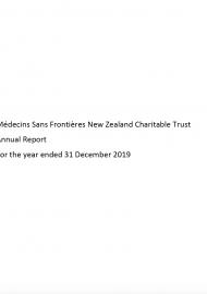 MSF NZ Financial Report 2019