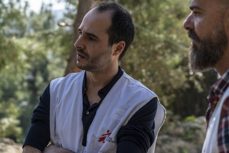 The MSF International President Christos Christou visiting Samos Island to see the situation of asylum seekers and refugees trapped on the Greek Islands. © Anna Pantelia/MSF