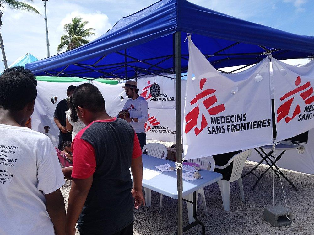MSF conducting mental health awareness activities in Nauru