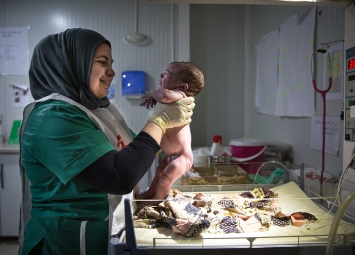 Iraq - Dohuk - Domiz Syrian refugee camp maternity