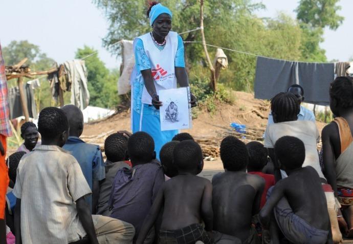 Refugee camp Doro South Sudan