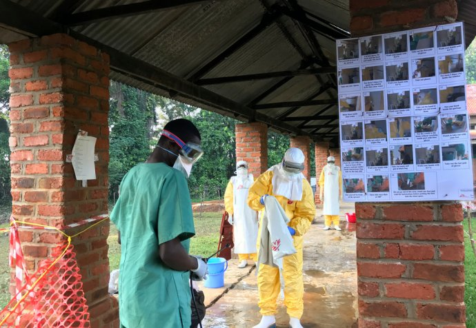 Ebola Treatment Centre (ETC) in Bikoro