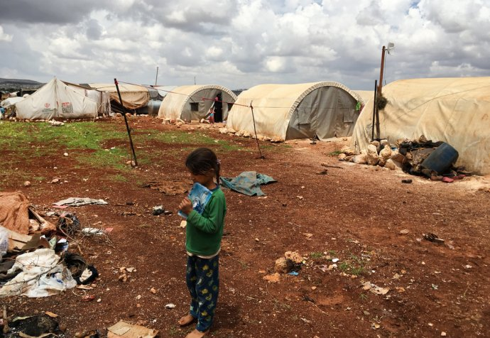 Idlib, a crowded IDP camp