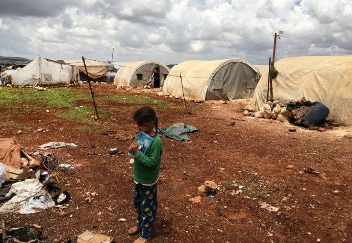 Idlib, a crowded IDP camp