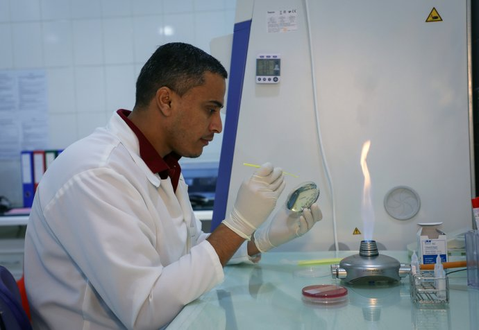 MSF bio lab at MSF's Aden hospital
