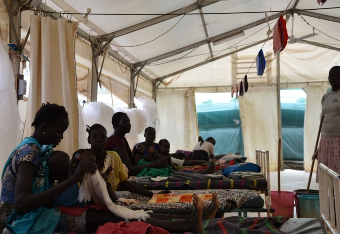 MSF hospital in Bentiu POC, South Sudan
