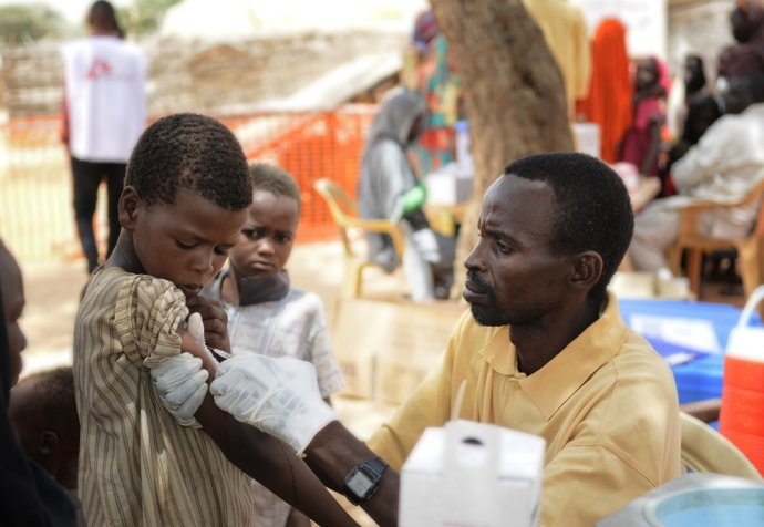 Measles vaccination in North Darfur