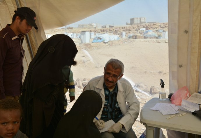 IDPs in Khamer, North of Yemen