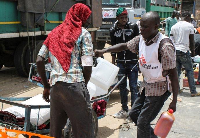 Nigeria, distributio in Muna Garage camp