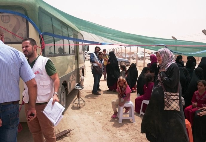 Mobile clinics in Amaryat Fallujah (AF) Iraq