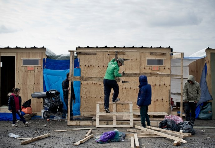 Camp humanitaire de Grande Synthe.