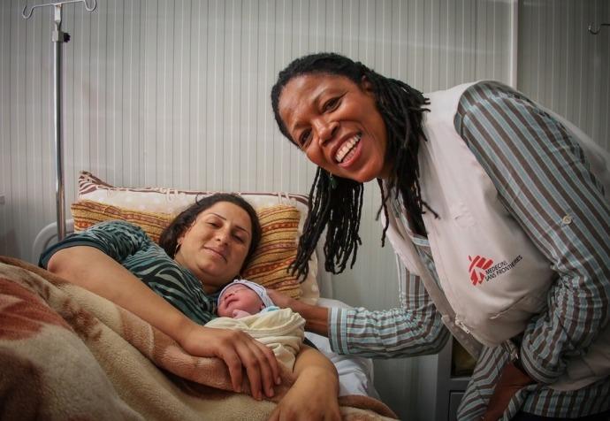 Maternity unit in Domeez Camp, Iraq