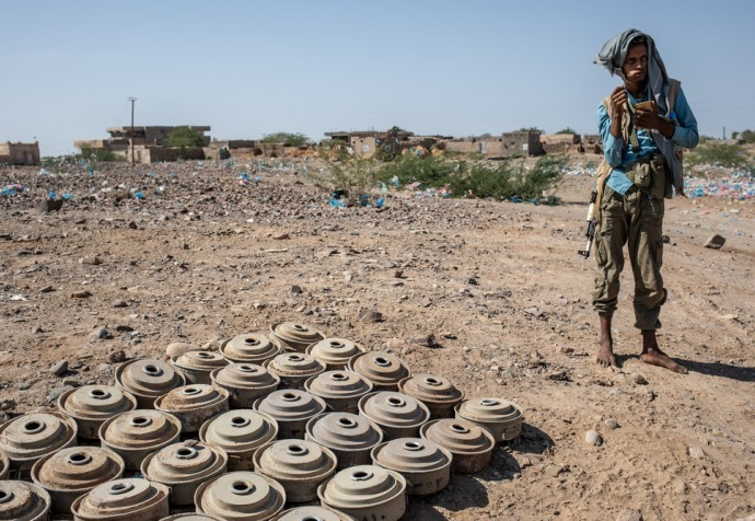Landmines in Taiz and Hodeidah governorates