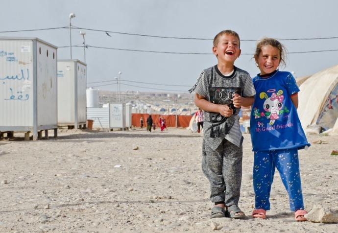 Vaccination in Qayyarah camps