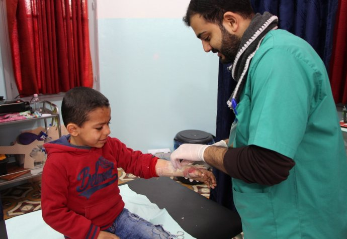 Management of burns in Gaza – awareness and cares