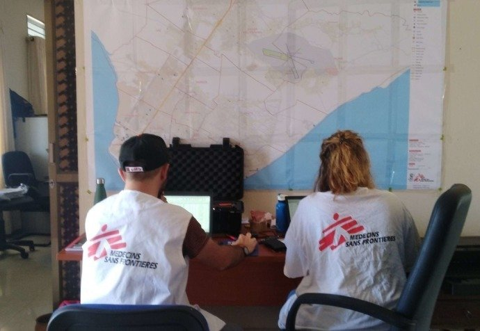 GIS support for MSF operations in Mozambique.